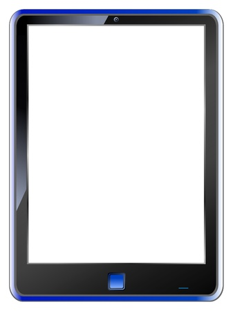 tablet PC, blank display, vector, free copy space Stock Vector - 9697750