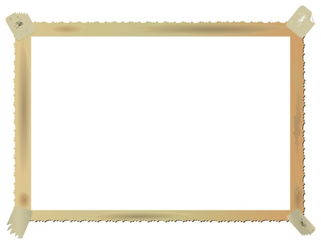 Vintage photographic blank picture frame isolated on white background,vector Vector
