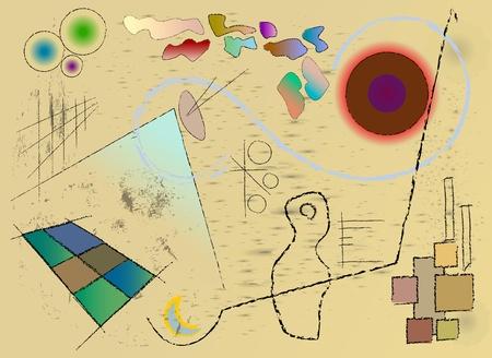 kandinsky: modern art inspired background design Illustration