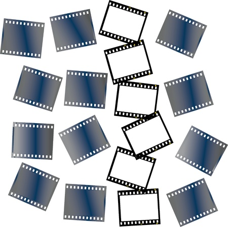 text free space: pieces of filmstrips Illustration