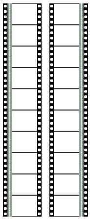 tira de negativos de película  Ilustración de vector