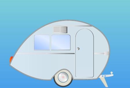caravan: retro caravan, vector illustration Illustration