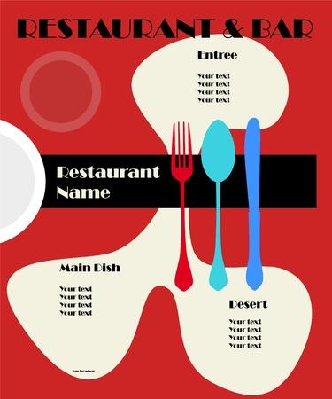 Vintage Menu card design template, free copy sapce