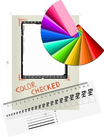 Sofortige Bild leere Rahmen, Linien-Manometer, Farbfeld, Druckvorstufe konzeptionelle Standard-Bild - 9932804