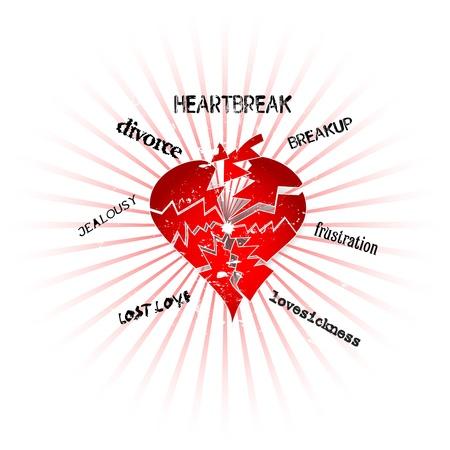 love and heartbreak concept Vector