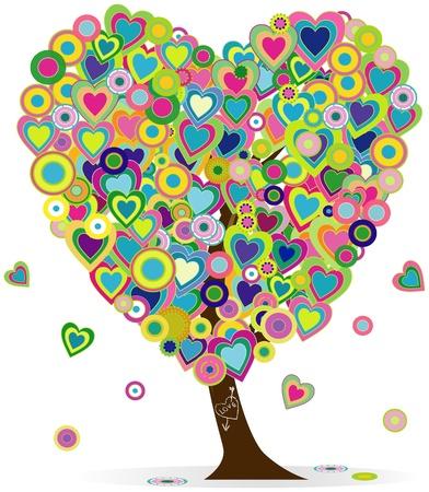 heartshaped tree,love concept design