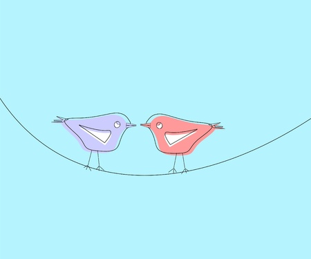 realtionship: two birds in love