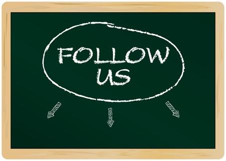 weblogs: Social network concept, follow us on ....