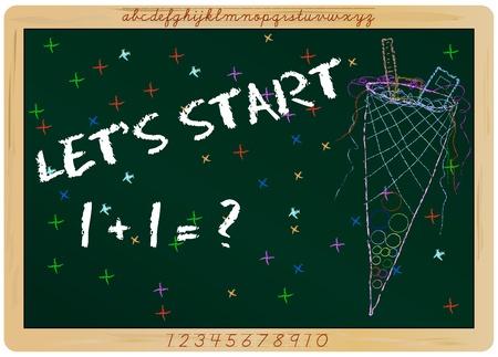 first day of school, start of  new school year, vector Stock Vector - 10263056