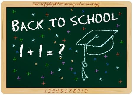 first grader: first day of school, start of  new school year, vector Illustration