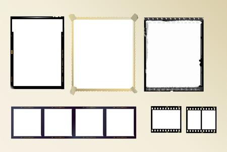 formato: set of photo frames,vector Ilustra��o