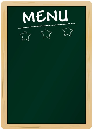 blank menu on blackboard, free copy space Vector