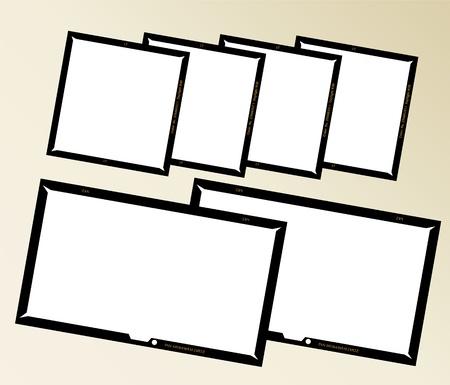 negatives: set of  large format negatives, photo frames