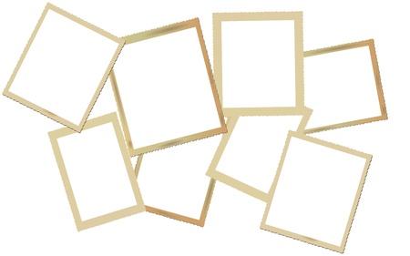 deckle: vintage photo frame set.