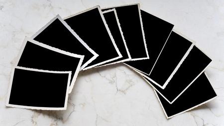 deckle: Vintage photographic deckle edged picture frames