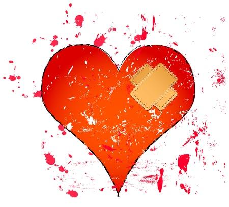 breakup: heart illustration, love concept