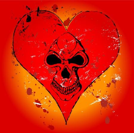 Gothic love illustration Vector