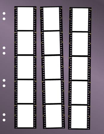 negative film contact sheet, blank frames, space for pix Ilustração