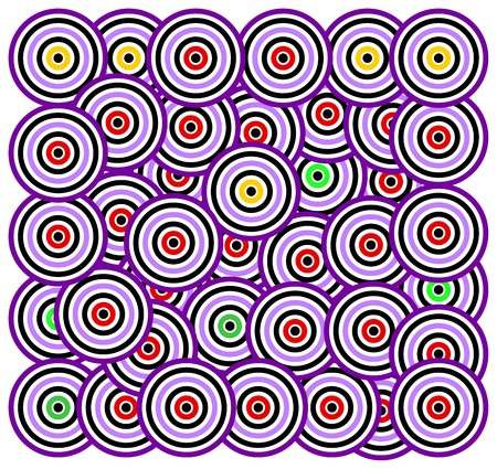 fabric samples: abstract circle background Illustration