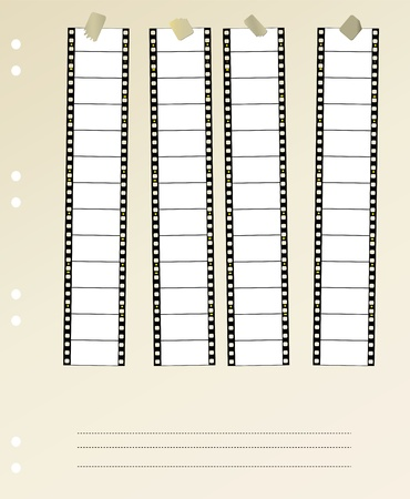 35 mm widescreen movie filmstrip, mounted Stock Vector - 11670119