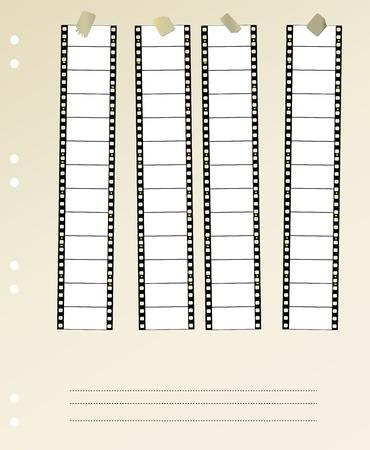 gran angular: Tira de pel�cula 35 mm pel�cula en pantalla panor�mica, montada