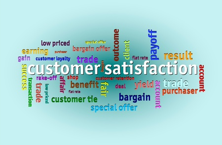 Economics and finance tags design, customer satisfaction