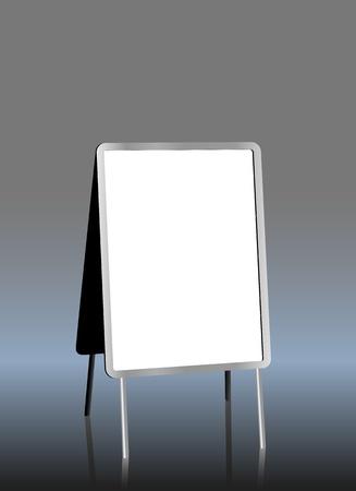 sandwich board: blank sandwich board, free copy space, vector illustration
