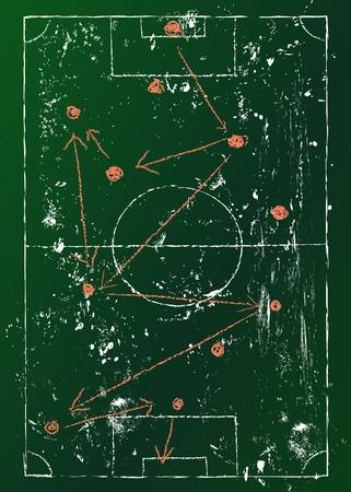 t�cticas del f�tbol diagrama, ro�oso Vectores