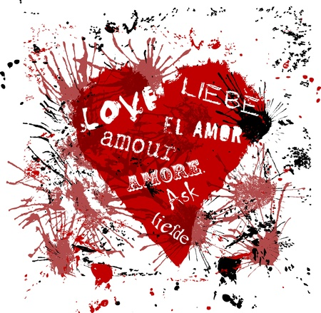 heart with the word  Stock Vector - 11809591