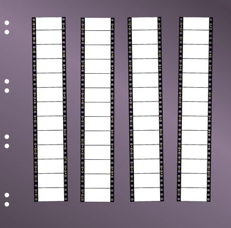 contact sheet 35 mm widescreen movie filmstrip, free space for pix, vector Vector