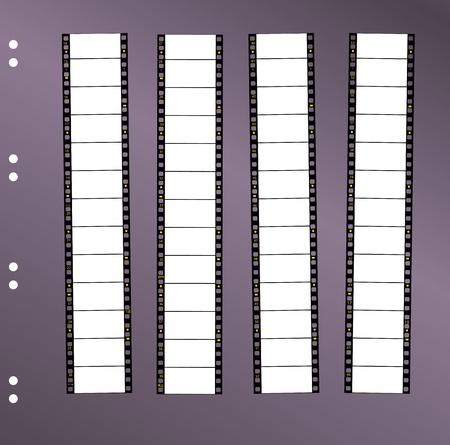 gran angular: p�ngase en contacto con hoja de 35 mm de rollo de pel�cula pel�cula en pantalla panor�mica, el espacio libre para el pix, vector