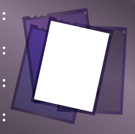 35 mm: sheet film contact sheet, vector, blank photo frame