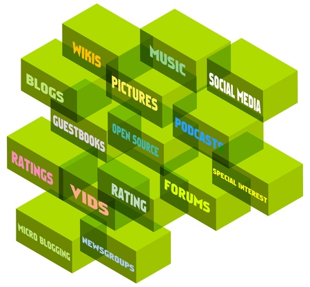 microblogging: social network concept, vector illustration Illustration