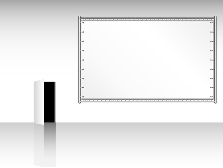 blank public billboard, canvas, free copy and picture space Vector