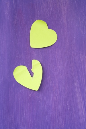 two hearts and love stickers, free copy space Imagens