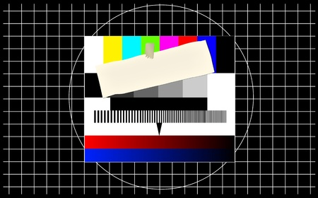 Test pattern, with blank notification, free copy space Vector