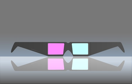 stereoscope: 3D glasses, illustration, free copy space