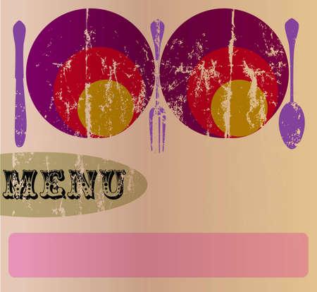 restaurant menu  design template,copy space, vector Vector