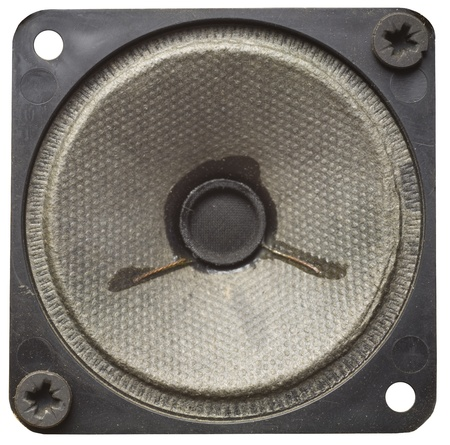 speaker system: vintage speaker with paperboard membrane, isolated