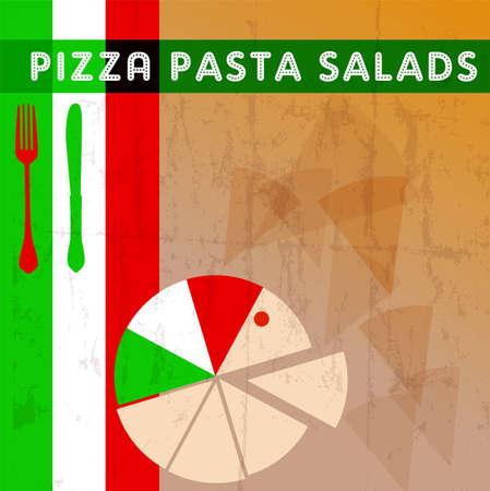 Pizza menu card deign template free copy space Vector