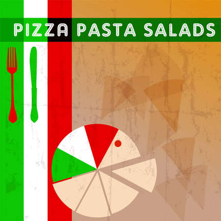 Pizza menu card deign template free copy space