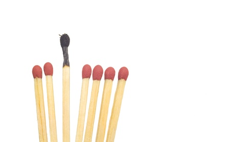 some: matches, conceptual for the burnout syndrome