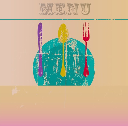 restaurant menu design, free copy space,illustration Vector