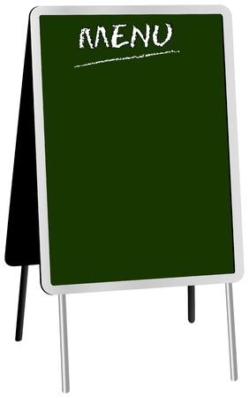 uithangbord: lege menu op panelen sandwich, gratis exemplaar ruimte, illustratie Stock Illustratie