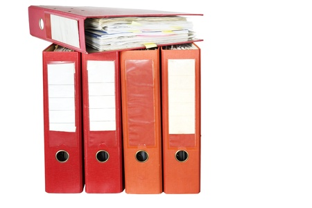 file or office folders, isolated Stock Photo - 13028214