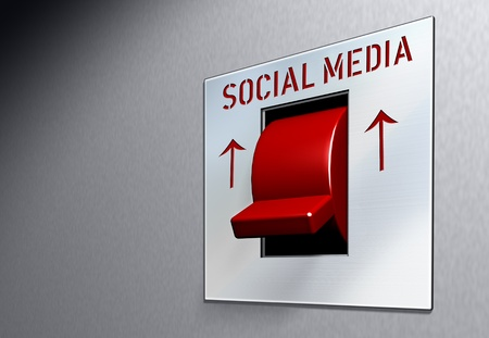 microblogging: social network and media concept, switch Stock Photo