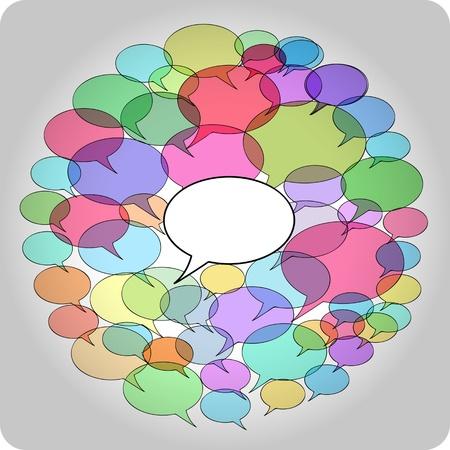 hablar en publico: Concepto Netweork Social, copia espacio libre