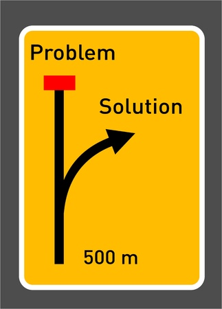 motivate: Trafic sign  Conceptual for solving problems
