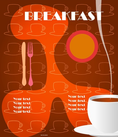 copy sapce: Vintage menu,breakfast card design template, free copy sapce