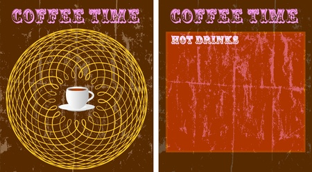 coffee shop menu design template,vintage style,copy space, vector Vector